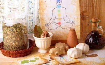 General principles of eating in Ayurveda. Types of medicinal herbs and foods